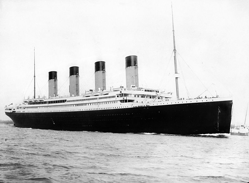image of Titanic departing Southampton in 1912
